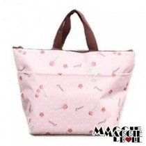 Insulated Tote Bag Cooler Lunch Box Bag Cherry